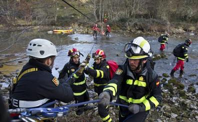 El Pantano del Ebro, escenario de un simulacro de rescate de personas con discapacidad