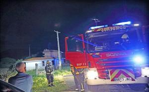 Se incendia una vivienda en construcción en Carrejo