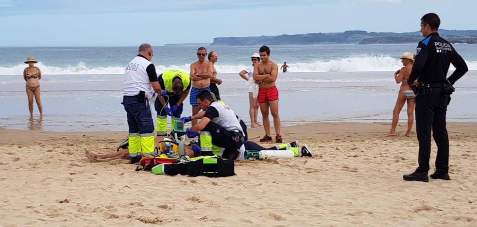 Muere un hombre de 80 años en la playa de El Sardinero