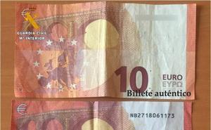 La Guardia Civil investiga la procedencia de billetes falsos de diez euros en Castro Urdiales