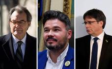 Artur Mas y Gabriel Rufián se desmarcan de la vía de la confrontación de Puigdemont