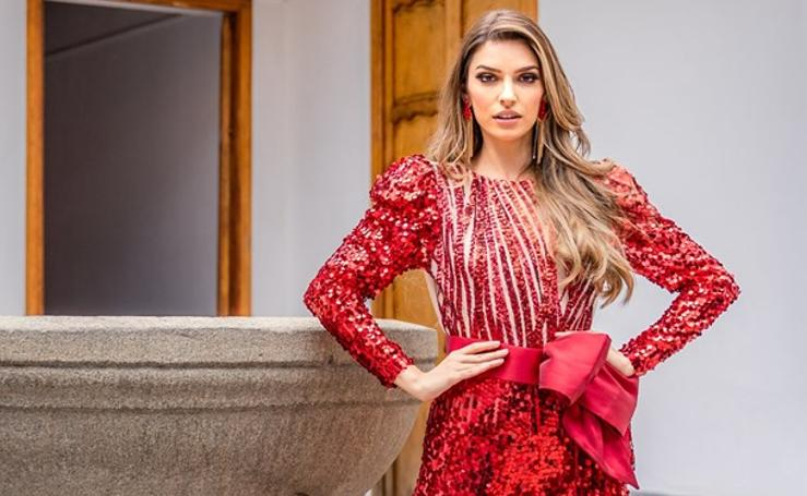 La santoñesa Ainara de Santamaría vive en Venezuela la emoción final de Miss Grand International