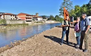 La Confederación Hidrográfica levanta la escollera de Somahoz