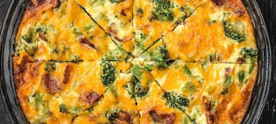 Así se hace una rica quiche de brócoli y queso de nata