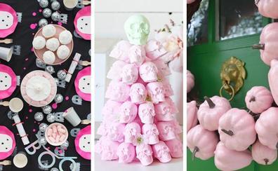 La decoración de este Halloween se tiñe de rosa
