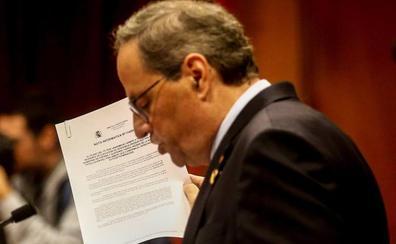 Torra pide contención a los Mossos y anuncia otro referéndum esta legislatura