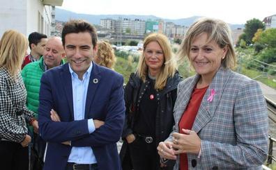Casares expresa el compromiso del PSOE con soterrar las vías de tren en Camargo