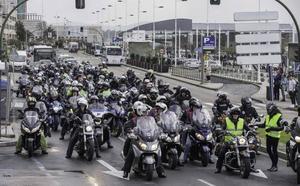 Los motoristas vuelven a manifestarse para reivindicar carreteras «más seguras»