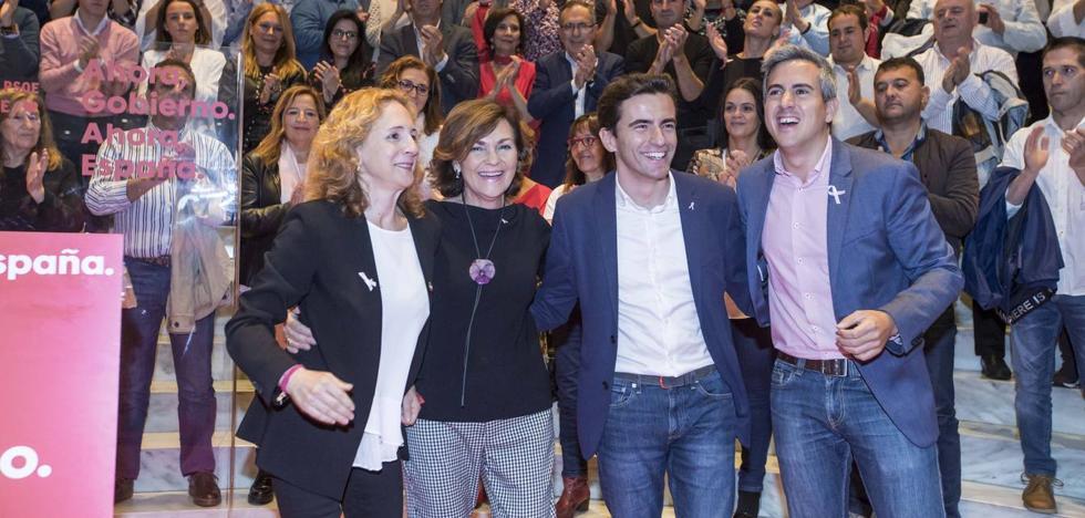 Calvo asegura en Santander que la única manera de defender el futuro y su democracia es el PSOE