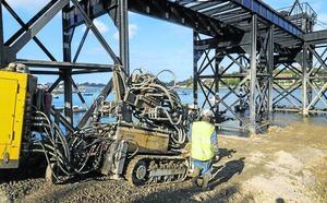 La consolidación del Puente de Los Ingleses afronta su ecuador