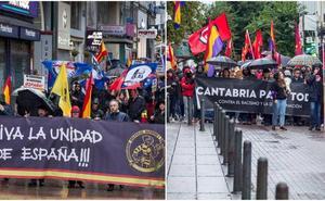 Manifestaciones paralelas en Santander contra el fascismo y por la unidad de España
