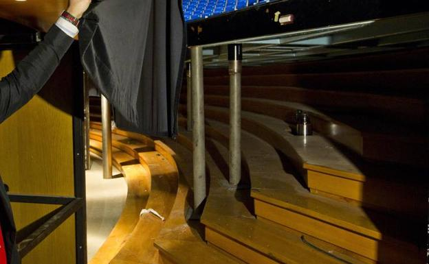 El foso del Palacio también se verá reforzado al desplazar la escalera que da acceso a la sala Argenta