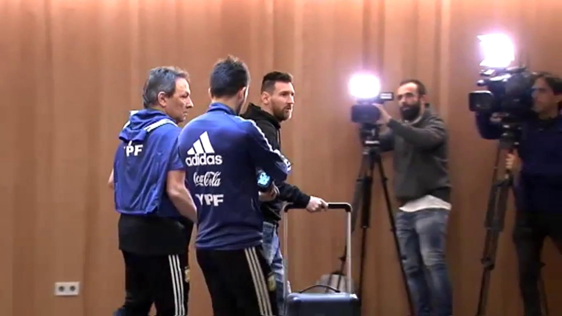 Messi llega a Palma de Mallorca