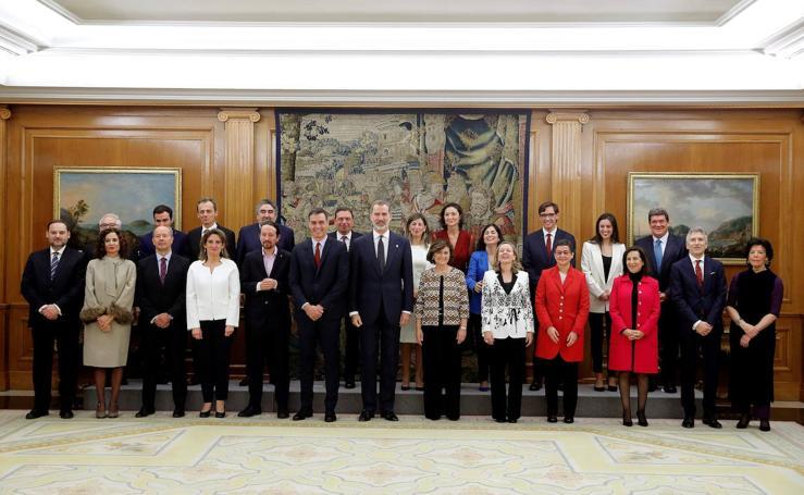 Así ha sido la toma de posesión de los ministros de Sánchez