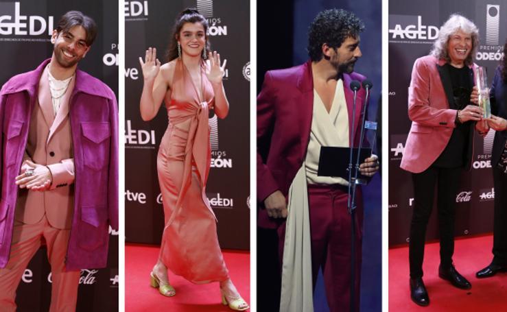 Paco León, Don Patricio o José Mercé: el traje rosa se impone a los clásicos en los premios de la música