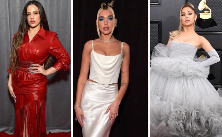La alfombra roja de los Grammy, en imágenes