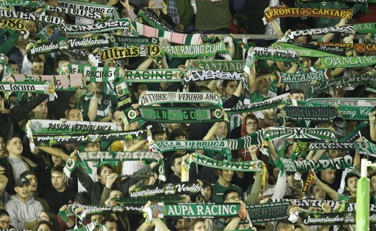 Imágenes del partido Racing-Alcorcón