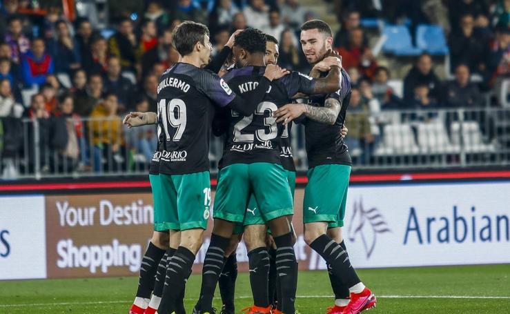 Imágenes de la victoria del Racing en Almería