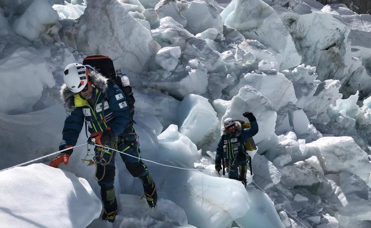 Txikon, en la expedición invernal al Everest