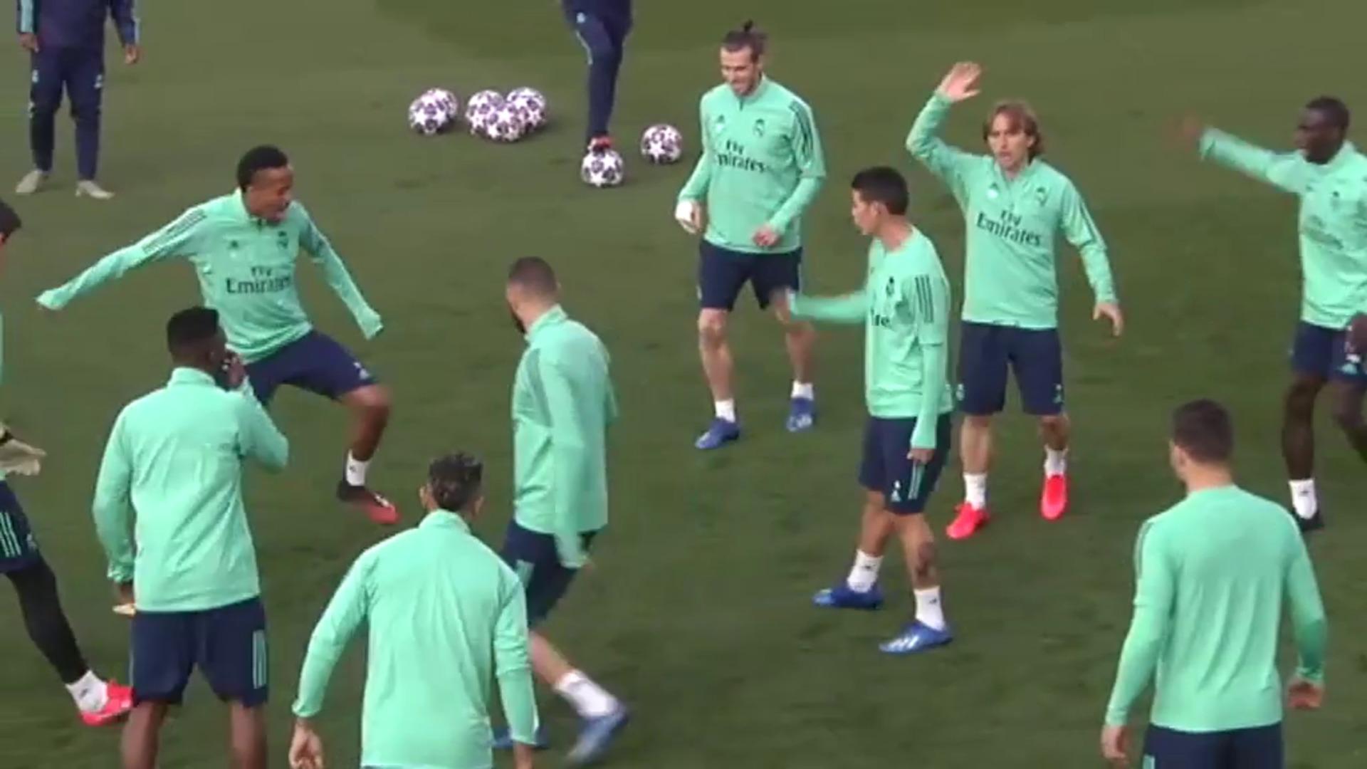 Caras alegres en el Real Madrid antes de enfrentarse al Manchester City