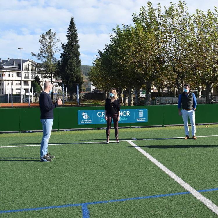 Adjudicada la renovación del césped artificial del campo de Vimenor por 195.500 euros