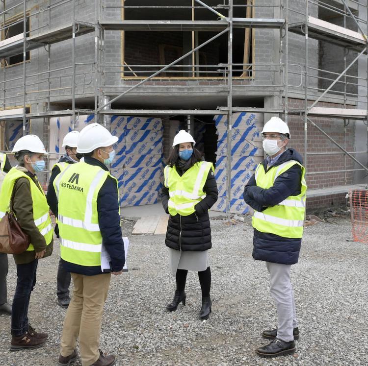 Las 120 viviendas sociales de San Román estarán acabadas en el verano de 2021
