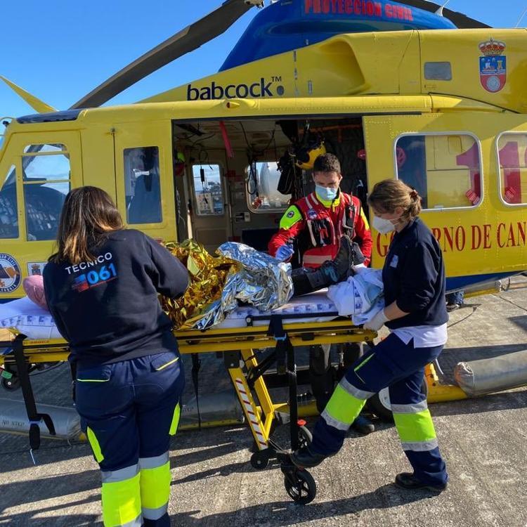 Rescatada una senderista de 63 años en la zona de Las Cascadas de La Tejera, en Los Corrales de Buelna