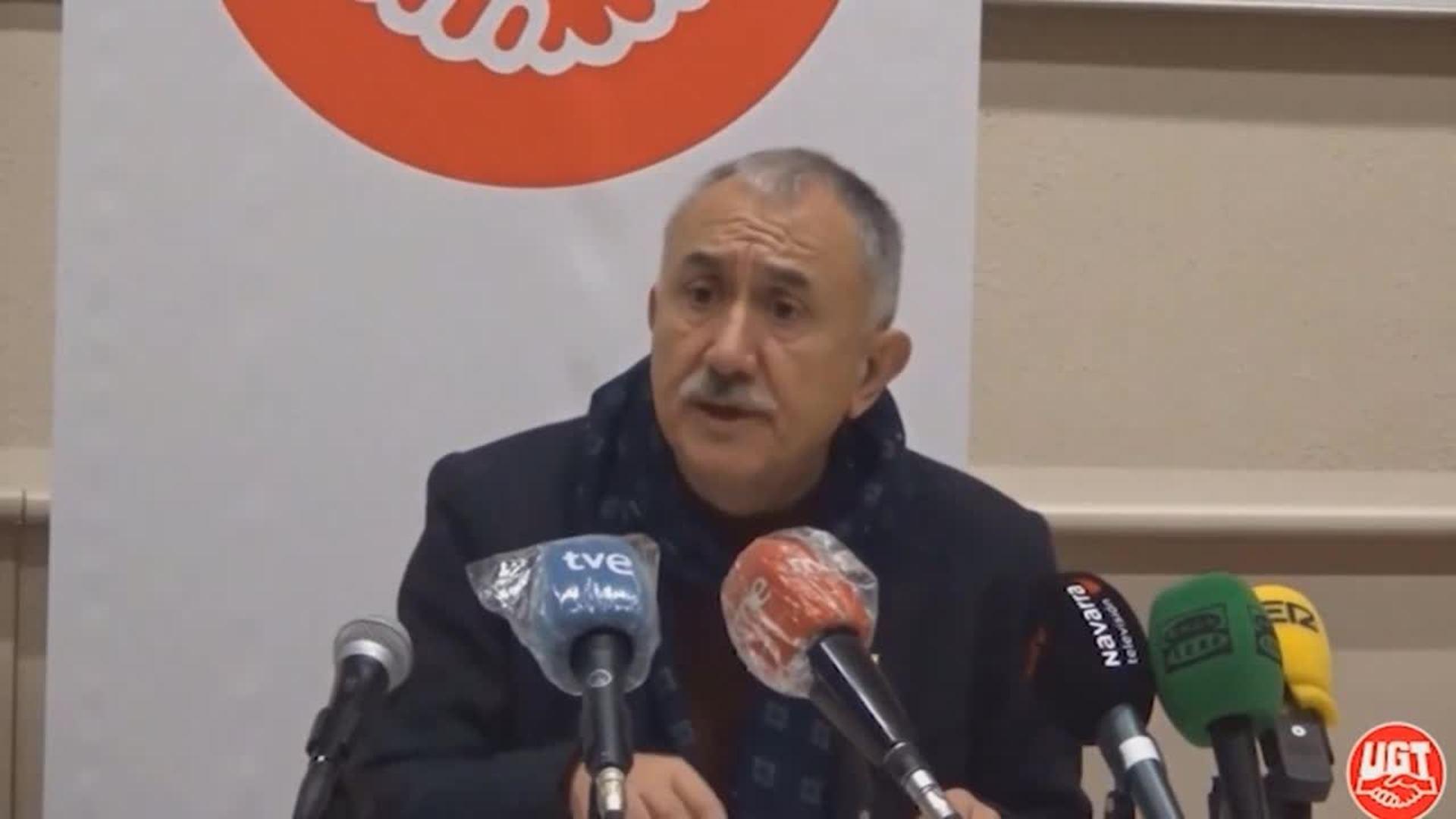 """Álvarez (UGT) dice que los sindicatos están en una """"nueva fase"""""""