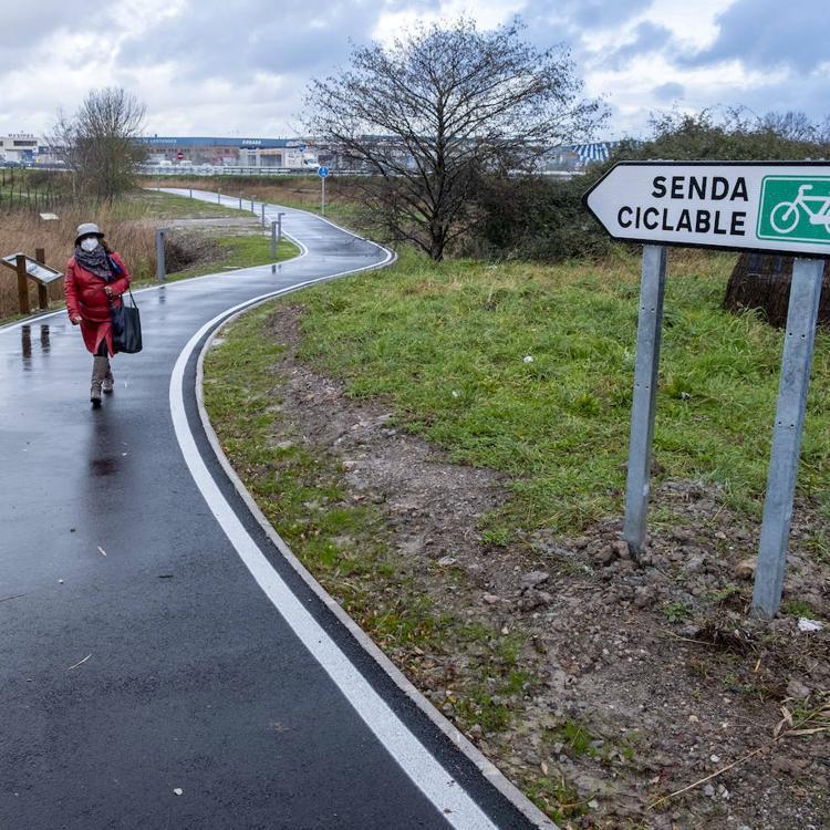 Las Marismas de Alday estrenan un nuevo tramo ciclista