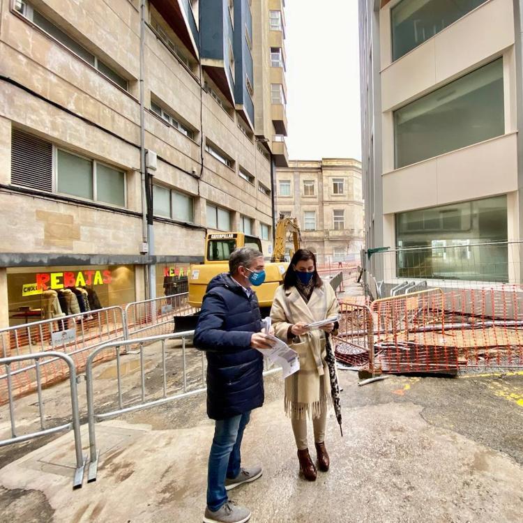 Empieza la semipeatonalización de las calles La Paz y Francisco de Quevedo de Santander