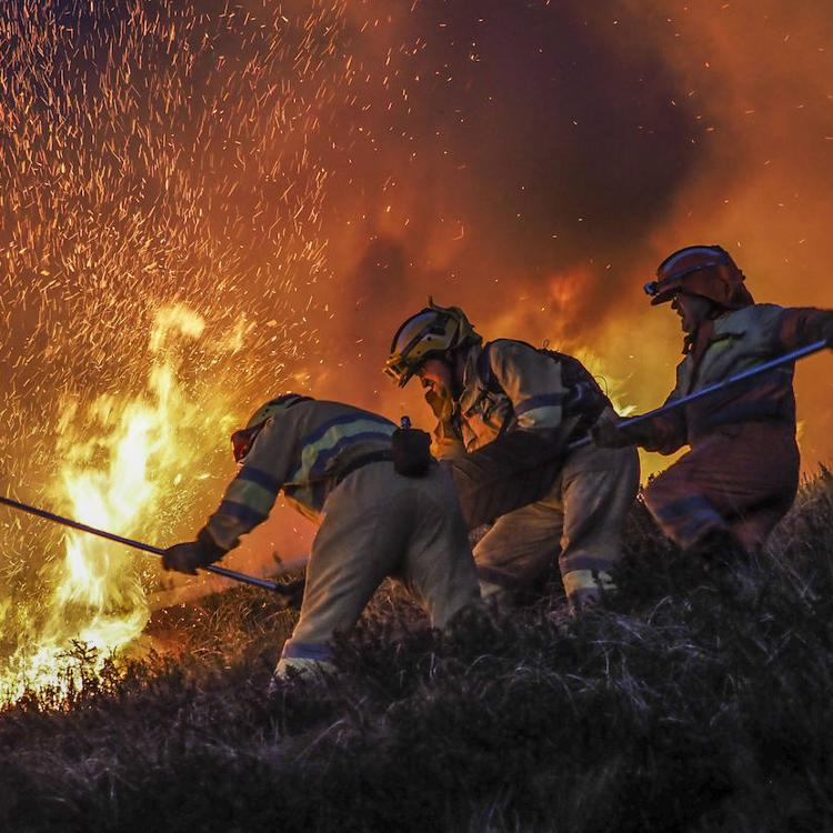 La lucha imposible contra el fuego