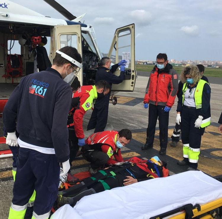 Rescatado un ciclista tras perder la consciencia por una caída en el Monte La Teja