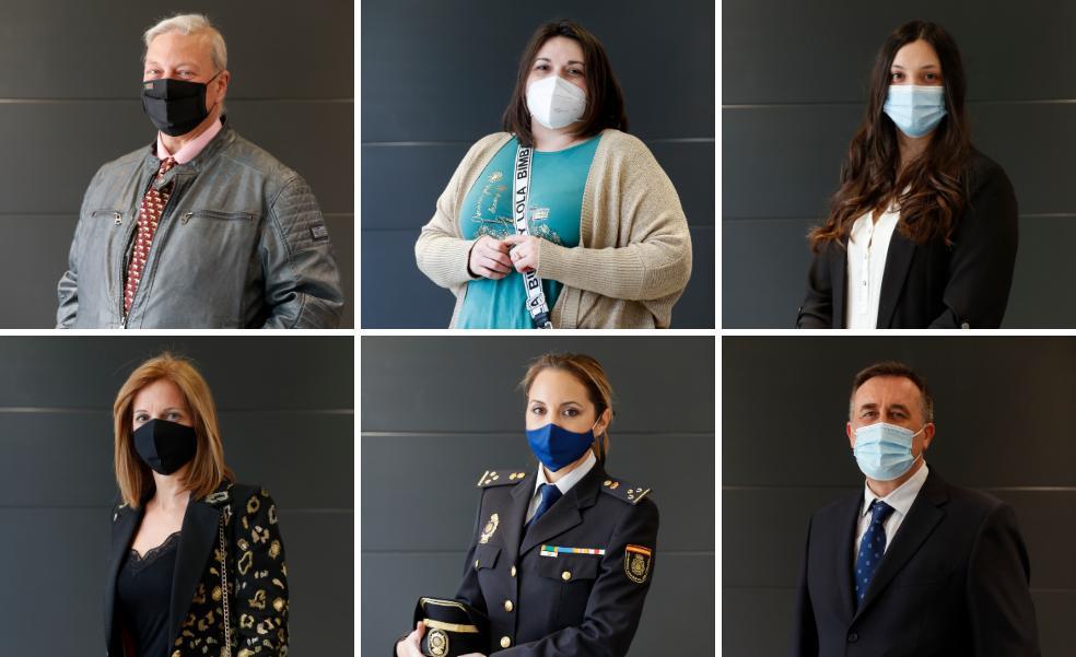 Seis rostros esenciales en nombre de la sociedad