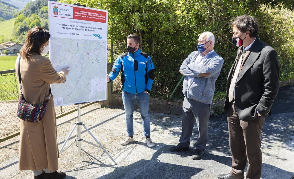 Finalizado el abastecimiento de Bueras y el tramo hasta Carasa en el municipio de Voto