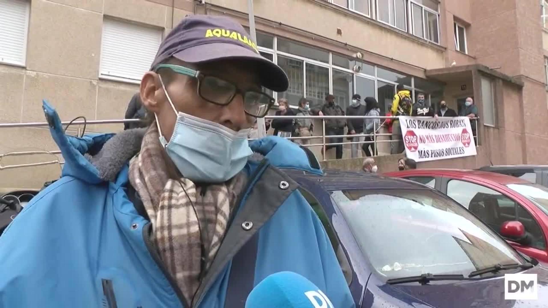 Suspendido el desahucio de la calle Guillermo Arce en Santander