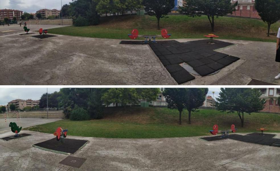 La Ampa del Colegio Riomar, en Castro, denuncia el estado del parque infantil