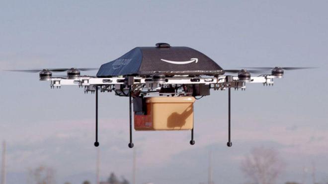 Amazon sigue con sus planes de enviar paquetes con drones