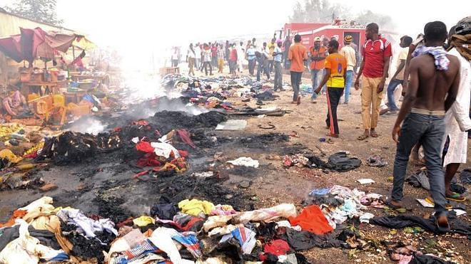 Ascienden a 118 los muertos por una doble explosión en Nigeria