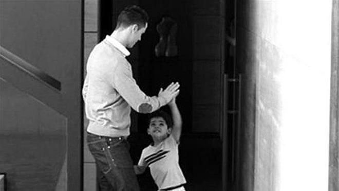 Cristiano Ronaldo protagoniza su último rodaje publicitario con su hijo