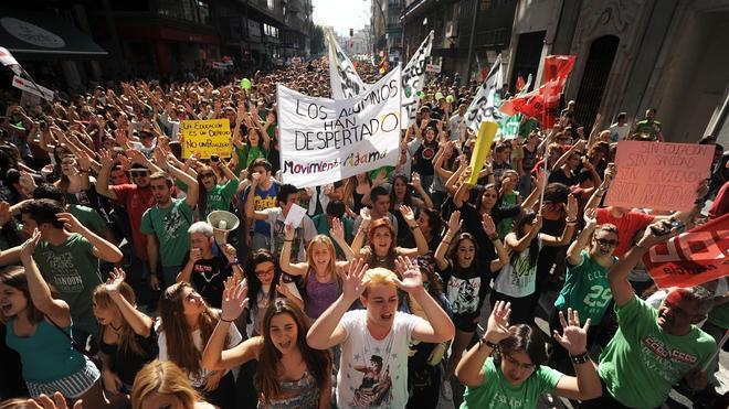 Los estudiantes denuncian que no les dejan manifestarse el 19 por la proclamación