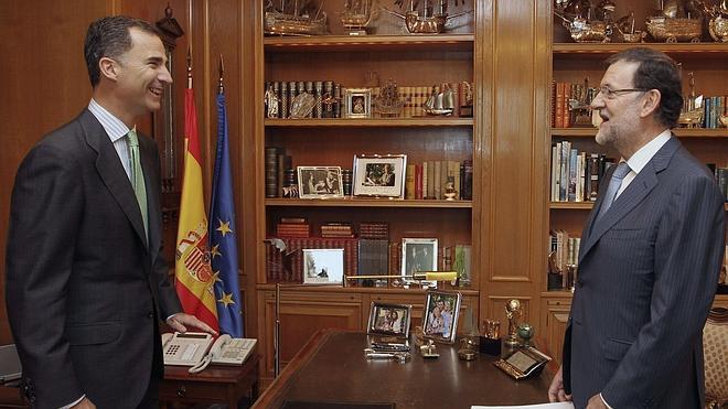 Felipe VI le hace un guiño a 'La Roja'