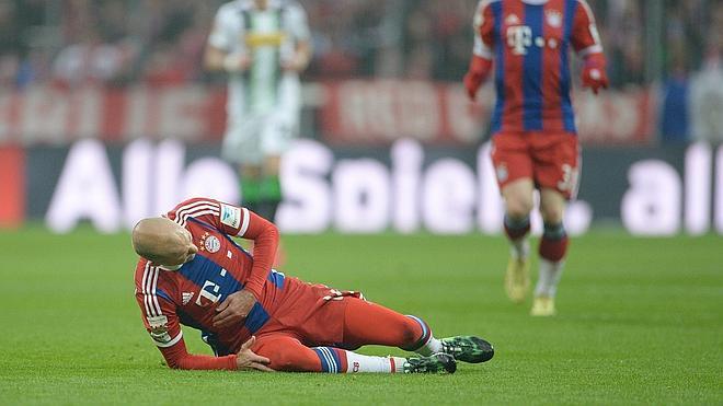 Robben será baja ante España