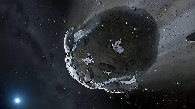 El agua de asteroides y cometas puede llegar a otros sistemas planetarios