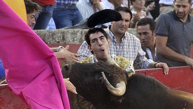 Jiménez Fortes, corneado en el cuello en la localidad salmantina de Vitigudino