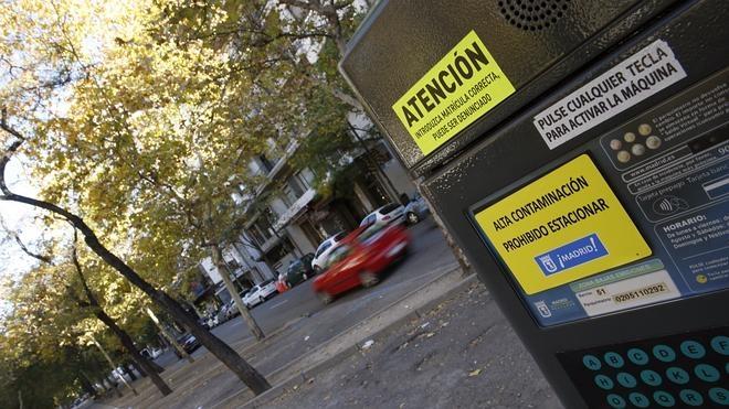 Madrid restringe este viernes el aparcamiento en el centro por contaminación