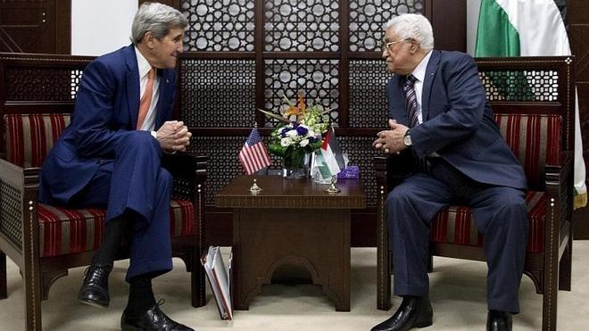 Abbas y Kerry se reúnen en Ramala en el marco de su visita a la región