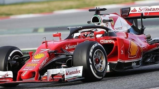 Räikkönen estrena el nuevo sistema de protección de F1