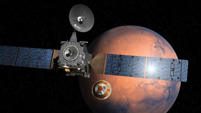 El módulo europeo inicia su descenso de tres días hacia Marte
