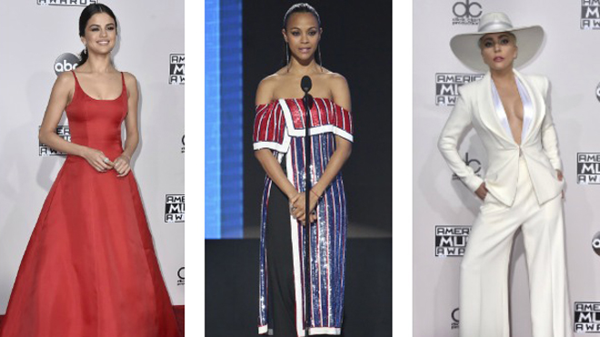 Las mejor vestidas de los American Music Awards