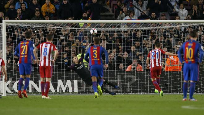 El Atlético llora por su pena máxima